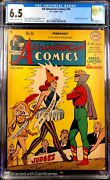 All American Comics 94 Cgc 6.5 Cr/ow Rare Harlequin Cover 2nd Highest Graded
