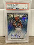 2020-21 Panini Hoops Anthony Edwards Rc Auto Psa 9 Pop 3 None Higher Rookie Ink