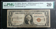 1 1935a Hawaii-wwii Emergency Issue Silver Cert Fr 2300 Pmg 20 Pc Block