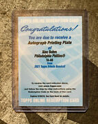 2021 Topps Tribute Alec Bohm Rc Auto Printing Plate 1/1 🔥 Rookie 🔥 Huge Card