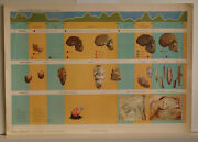 Wall Picture Old Stone Age Paleolithic Period Copper Early 92x64 Vintage 1968