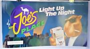 Camel Joe's Place Special Lights Light Up The Night Man Cave Banner 24x13 1994