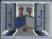 2004 Ultimate Ernie Banks And Fergie Jenkins Dual Jersey And Autograph D/25 Cubs