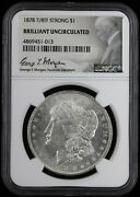 1878 7/8tf 1 Morgan Silver Dollar Ngc Bu | 7 Over 8 Tail Feathers