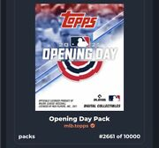 2021 Topps Mlb Opening Day Nft Pack Of Baseball Cards Digital Collectables Rare