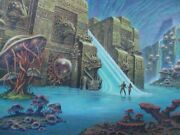 Large Fantasy Painting Drawing Comic Art Sci Fi Mystery Alien Planet Creatures