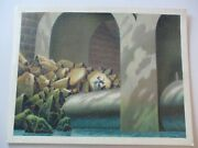 Large Fantasy Painting Drawing Comic Art Sci Fi Mystery Architectural Waterfall