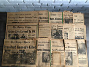 1963 Tampa Tribune And Times Newspaper Lot Of 15 Jfk Assassination/related Papers
