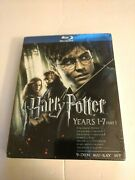 Harry Potter Years 1-7, Part 1 Blu-ray Disc, 2011, 9-disc Set Brand New