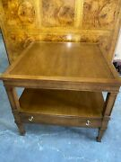 Drexel Heritage Triune Collection Mahogany 26 Square End Table 26x26x22h