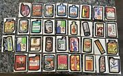 Lot Of 34 Vintage 1979 Topps T.c.g Chewing Gum Stickers Labels Wacky Packages