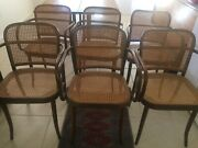 Local Pick Up Only 6 Matching Thonet Walnut And Caned Dining Chairs