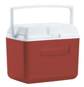 Rubbermaid 10 Quart Stain And Odor Resistant Red Ice Chest Cooler - Closeout