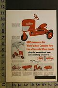 1953 Bmc Tractor Pedal Car Bicycle Dump Truck Fire Hook Ladder Knee Toy Ad Ta32