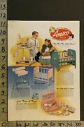 1957 Toy Ad Amsco Playsets Doll Doctor Nurse Medicial Kidd-e Betsy Mccall Ta76