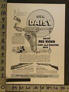 1954 Toy Ad Western Cowboy Daisy Red Ryder Pistol Gun Rifle Holster Plymouthth64