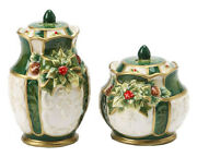Holly Tree Christmas Tree Salt And Pepper Shakers