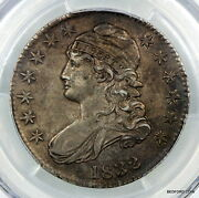 Pcgs Au50 Small Letters 1832 Capped Bust Silver Half Dollar 50c Bc18