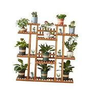 Multi-tier Plant Stand For Indoor And Outdoor,tiered Plant Ladderwood Flower