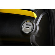 Outer Round A/c Vent Duct Covers W/white C-fiber And039rsand039 Inlay For 2010-2015 Camaro