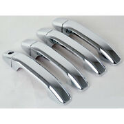 Chrome Door Handle Covers With Smart Key 8pc For 2014-2018 Gmc Sierra Suv
