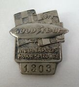 1977 Indianapolis 500 Silver Pit Badge 1303 Goodyear A.j. Foyt Goodyear Blimp