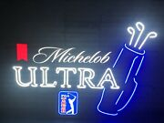 Michelob Ultra Beer Pga Tour Golf Light Up Led Sign Game Room Man Cave New