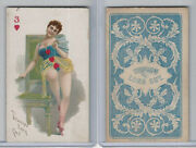 N457 Trumps Long Cut, Playing Cards, Blue Back, 1890, Heart 3