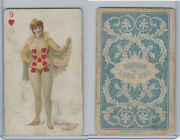 N457 Trumps Long Cut, Playing Cards, Blue Back, 1890, Heart 9