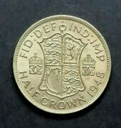 1948 Gb English Uk - Half Crown Coin - George Vi - Subdued Mint Bloom - 693