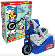 Limited Edition Variant Evel Knievel Stunt Cycle White Trail Bike 70and039s Daredevil