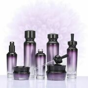 Glass Bottles Empty Cosmetic Containers Lotion Travel Gradient Pump Dropper Jars