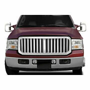 Premium Fx Chrome Abs Vertical Bar Replacement Grille For 2005-2007 Ford F-250