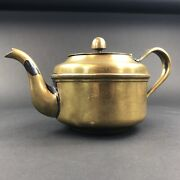 Reed And Barton Wwii Era Us Navy Silver Soldered 3610 Teapot Tea Kettle Patina