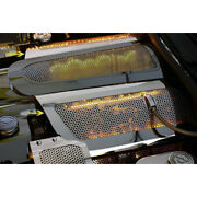 Perforated Replacement Fuel Rail Covers W/yellow Led For 2008-13 Chevy Corvette
