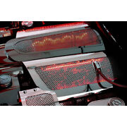Perforated Stainless Replacement Fuel Rail Covers W/red Led For 2005-07 Corvette