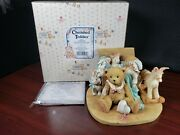 1991 Enesco Cherished Teddies Christopher Old Friends Are The Best 950483