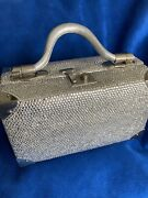 Judith Leiber Rare Vintage Train Case With Crystals