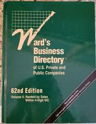 Ward's Business Directory Of U. S. Private And Public Companies Ser. Ward's...
