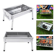 Stainless Steel Bbq Smokeless Barbecue Grill Portable Fold Grill Stove Outdoor