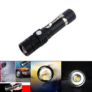 Zoom T6 Led Flashlight Rechargeable Water Resistant Handheld Torch Lamp