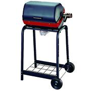 Electric Grill Cart 1500w With Wire Shelf Outdoor Cooking Barbecue On Off Light