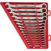 Ratcheting Wrench Set Sae Combination 15-piece Open-end Mechanics Hand Tools