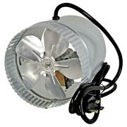 Duct Fan 6 In. Corded In-line Air Flow Booster Aluminum With Powerful Motor