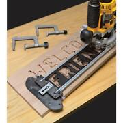 Router Jig Wooden Sign Making With Template Kit Bits And Bushings Power Tool