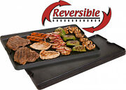 Camping Cookware Pre Seasoned Cast Iron Reversible Griddle And Grill Combo