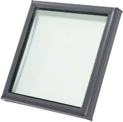 Skylight Roof Window Fixed Curb-mount 22-1/2 In. X 22-1/2 In. Tempered Low Glass