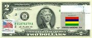 2 Dollars 2013 Stamp Cancel Flag Un From Mauritus Lucky Money Value 150