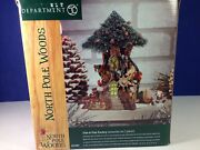 Dept 56 North Pole Woods Trim A Tree Factory Set Of 2 56.56884 Brand New
