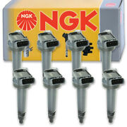 8 Pc Ngk Ignition Coils For 2008-2019 Lexus Lx570 5.7l V8 Spark Plug Wire Mg